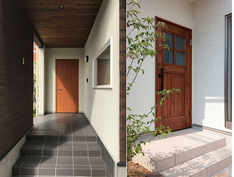 ユダ木工 木製ドアの施工イメージ