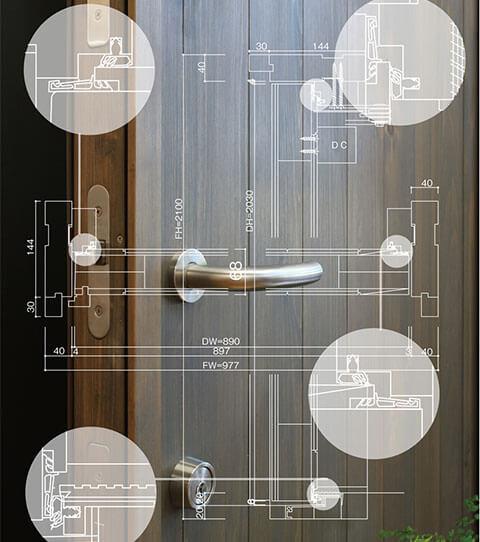MIYAMA桧 TS 超断熱玄関ドアシリーズ