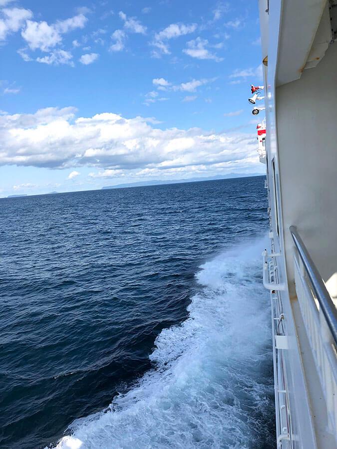 フェリーからの眺め、日本海