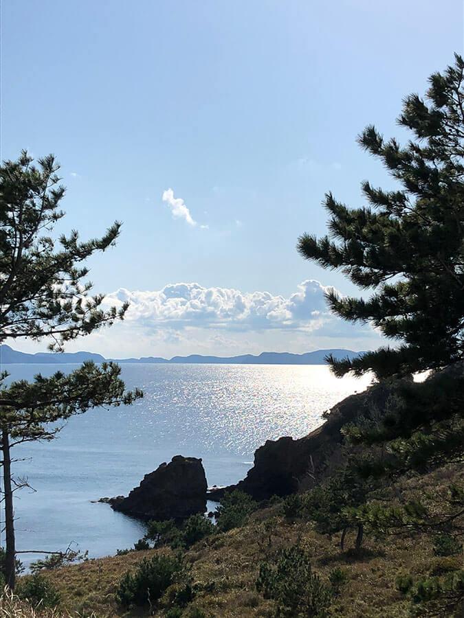 隠岐の島の美しい眺め