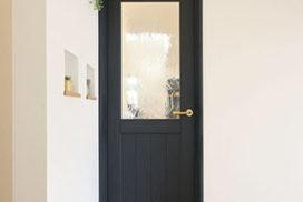 紺色のジーンズスタイル室内ドア