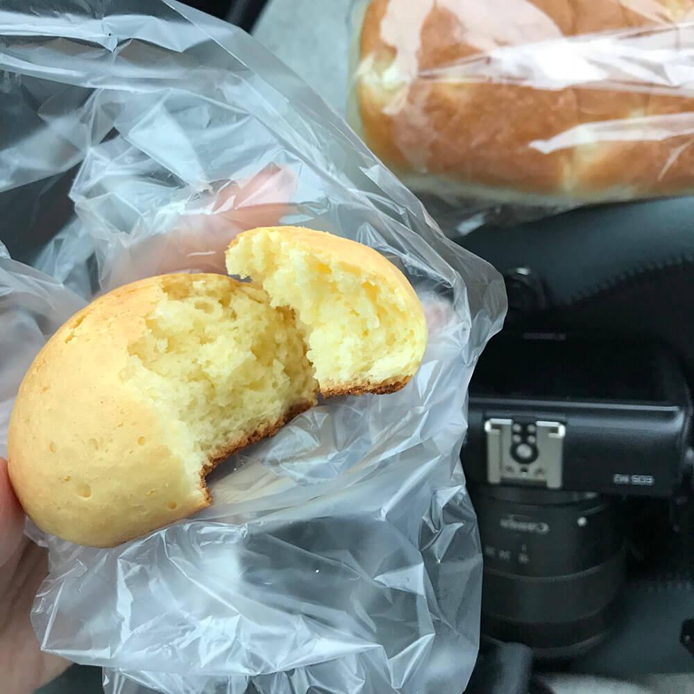 たまごパンを食べました