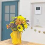 広島M様邸 青い木製室内ドア