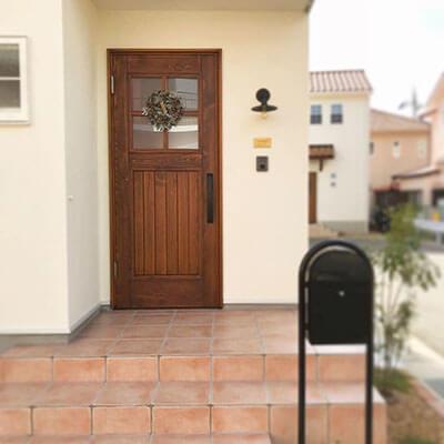 兵庫K様邸 木製玄関ドア