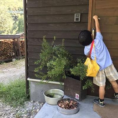 鹿児島M様邸 木製玄関引戸