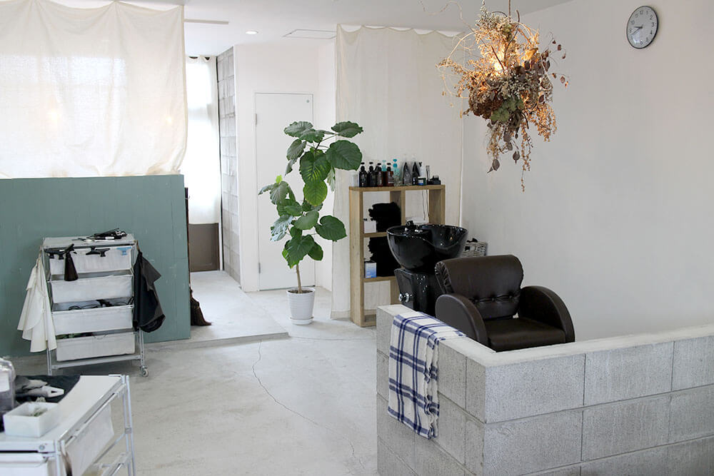 広島美容室 CORUJA内装