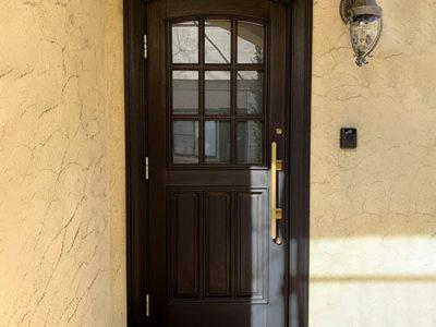 17年前の木製玄関ドア。