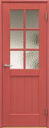 ジーンズスタイル室内ドア JS460 ポピーレッド