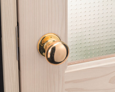 新品の真鍮ハンドル(木製ドアとドットのデザインガラス)