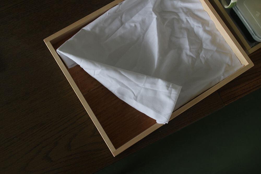 ヒノキの端材で作ったお盆