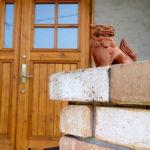 ユダ木工木製玄関ドアの再塗装