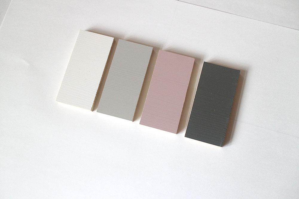 室内ドアのカラーサンプル モノトーンにくすみピンク